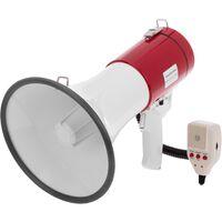 BeMatik - Megáfono de 25W con grabación 10s y sirena Altavoz portátil de 230x350 mm
