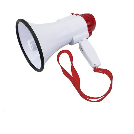 """main image of """"BeMatik - Megaphone 10W with 10s recording and siren Portable speaker 130x230 mm"""""""