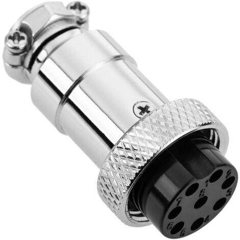 """BeMatik - Micro connecteur 8 broches GX16 femelle de l""""aviation de l""""air"""