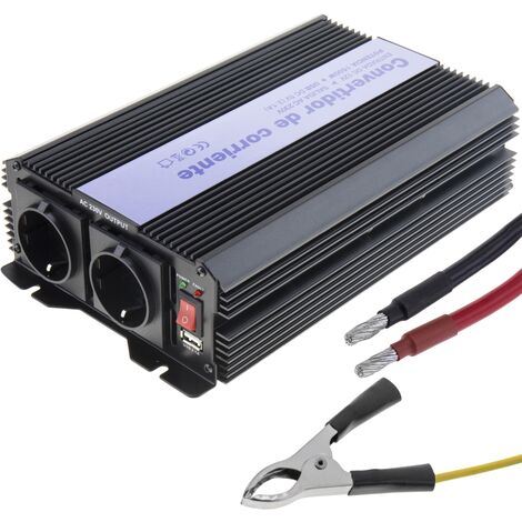 BeMatik - Modified wave power inverter 12 VDC to 220 VAC 1500W with USB