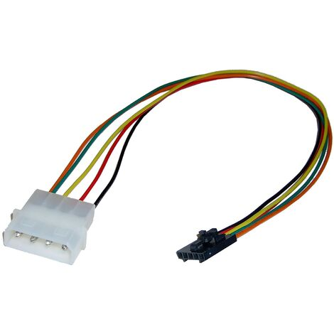 BeMatik - MOLEX Power Cable 4P-M (5.25) to 4P-H (power supply auxiliary Intel)