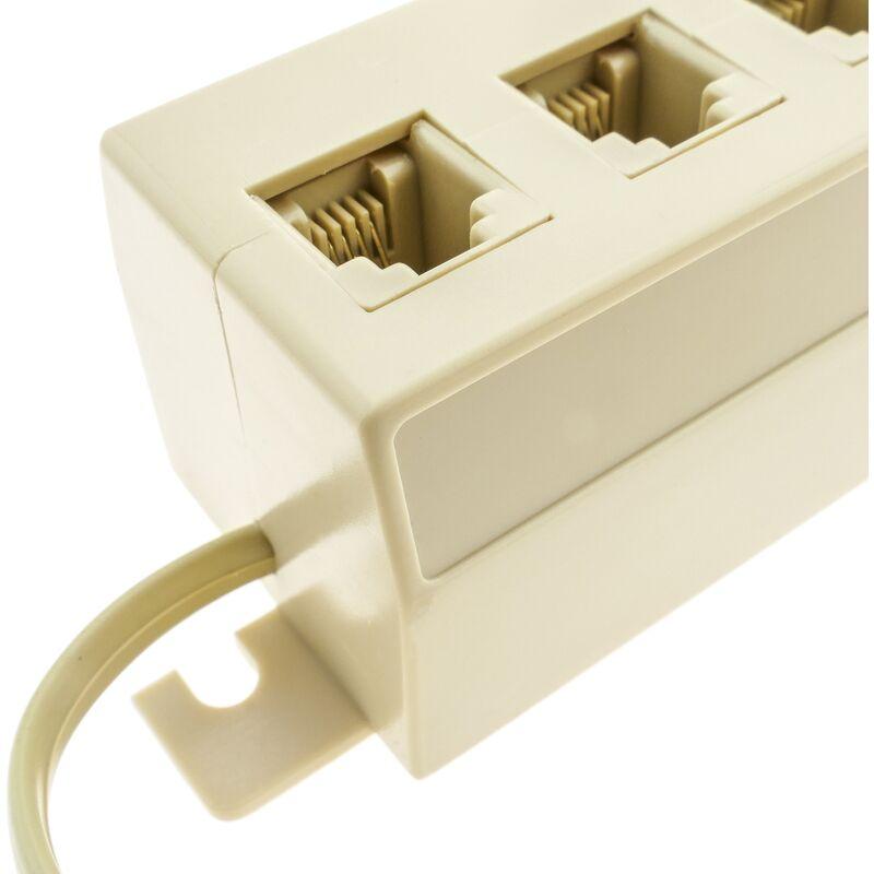 Multiplicador RJ11 Cable 20cm BeMatik 1 RJ11-M a 5 RJ11-H