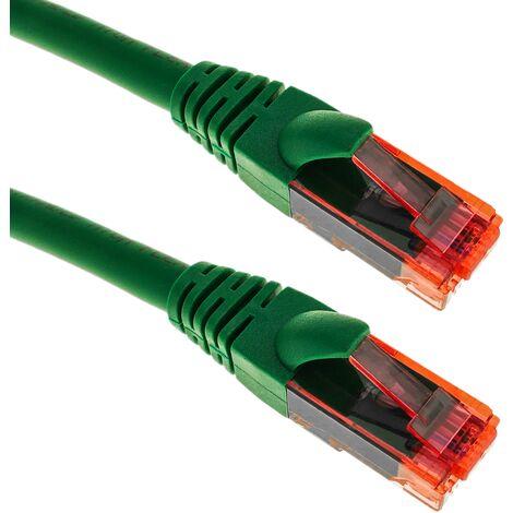 BeMatik - Network cable ethernet LAN RJ45 UTP 24 AWG Ultra flexible Cat. 6A green 1 m