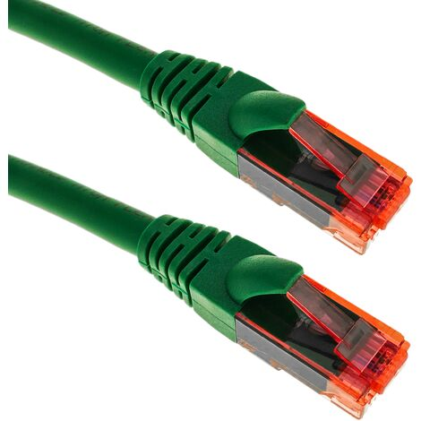 BeMatik - Network cable ethernet LAN RJ45 UTP 24 AWG Ultra flexible Cat. 6A green 2 m