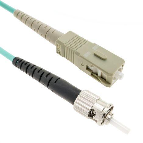 BeMatik - OM4 fiber optic cable multimode MMF simplex 50?m/125?m ST-SC 3m
