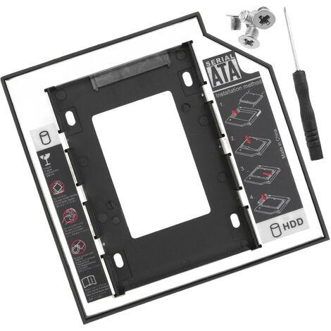 "BeMatik - Optical Disc Drive adapter caddy ODD CD DVD to SATA Hard Drive HDD 2.5"" for Laptop 9.5mm"