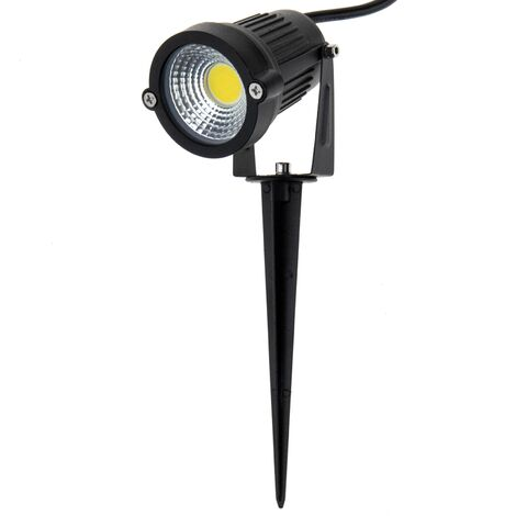 BeMatik - Outdoor LED spotlight IP65 5W 425LM with stake