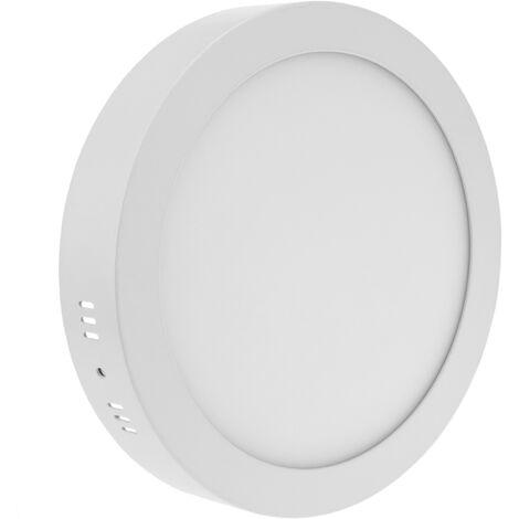 BeMatik - Panel LED circular downlight superficie de 220mm 18W blanco cálido