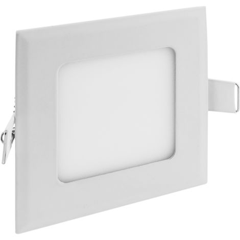 BeMatik - Panneau LED 12W 170mm downlight carré blanc chaud