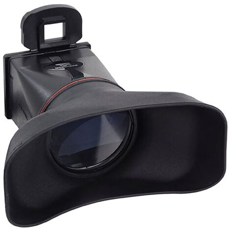 BeMatik - Parasol and LCD eyepiece magnifier for Canon 550D