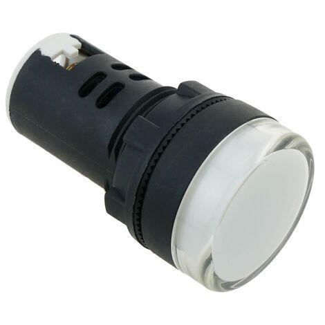 BeMatik - Pilote LED indicateur 22mm 220 VAC pour panneaux de contrôle lumiere blanc