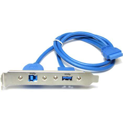 BeMatik - Placa USB 3.0 de hembra y B hembra a HS20 hembra