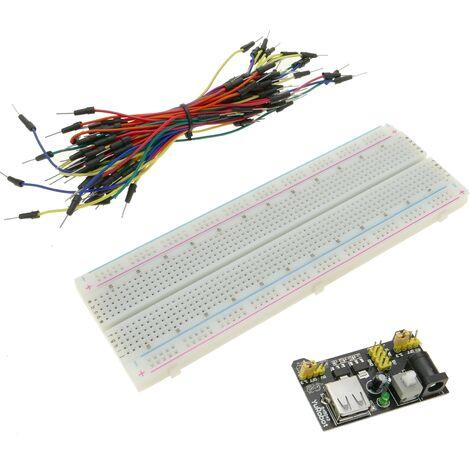 BeMatik - Plaque d'essais pour l'électronique Planche pour prototypage 830 points de connexion MB102 DW-0185