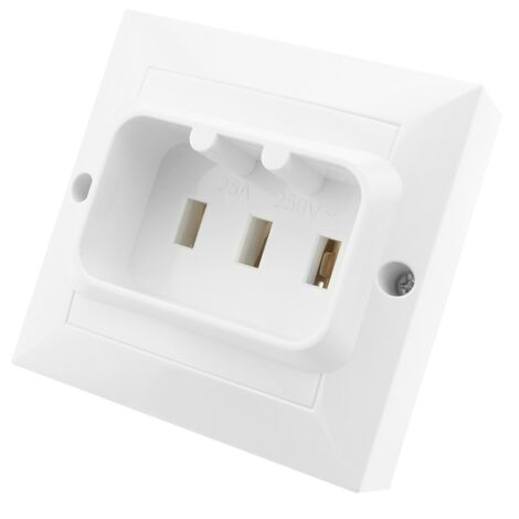 BeMatik - Plug socket 25A 2P + T for ovens and kitchens 80x80mm white