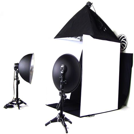 BeMatik - Portable Photo Studio 60cm softbox and spotlights