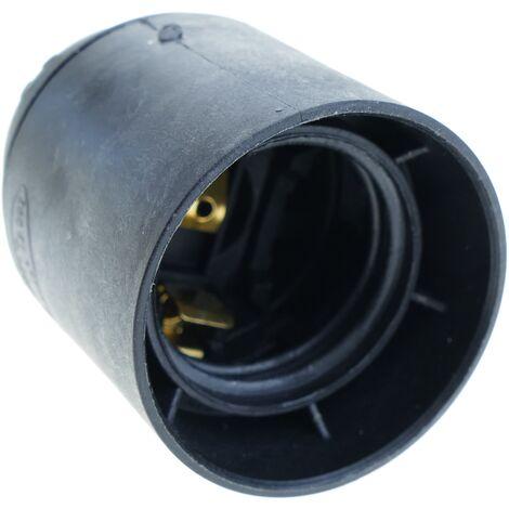 BeMatik - Portalámparas negro para 1 bombilla E27