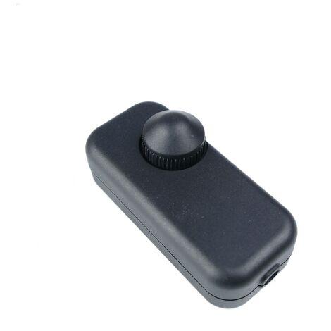 BeMatik - Potenciómetro regulador de luz con interruptor de color negro
