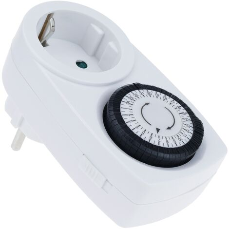 BeMatik - Programador eléctrico mecánico diario tipo enchufe mini