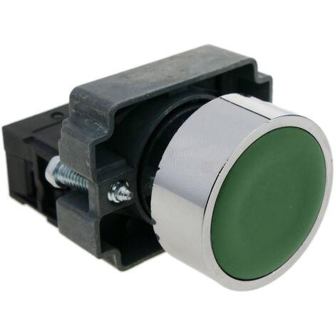 BeMatik - Pulsante momentaneo interruttore 22mm 1NO 400V 10A normalmente aperto verde