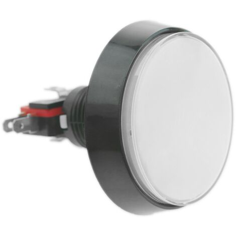 BeMatik - Push button arcade momentary 60 mm 1NO 1NC 250V 15A SPDT white with light