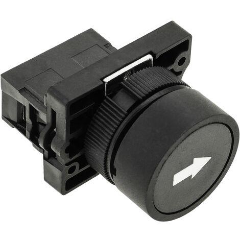 BeMatik - Push button momentary 22mm 1NC 400V 10A normally close black arrow