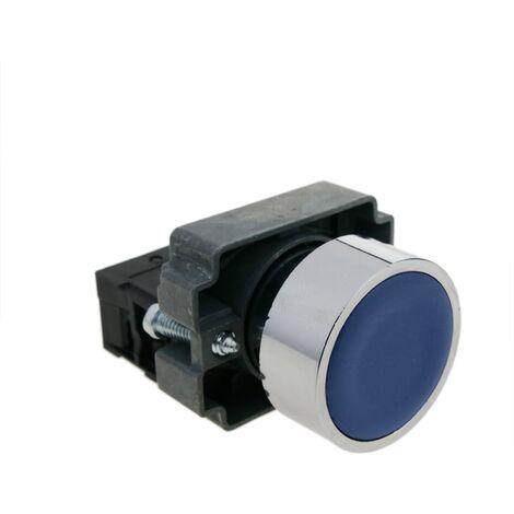 BeMatik - Push button momentary 22mm 1NC 400V 10A normally close blue