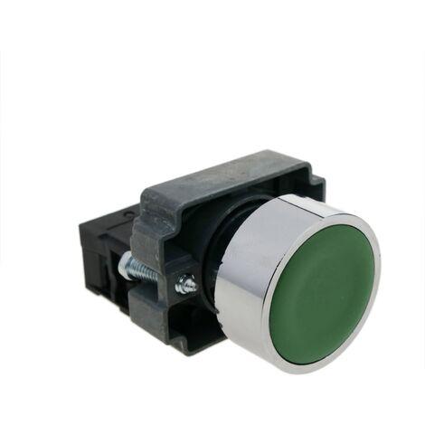 BeMatik - Push button momentary 22mm 1NC 400V 10A normally close green