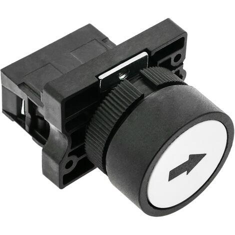 BeMatik - Push button momentary 22mm 1NC 400V 10A normally close white arrow