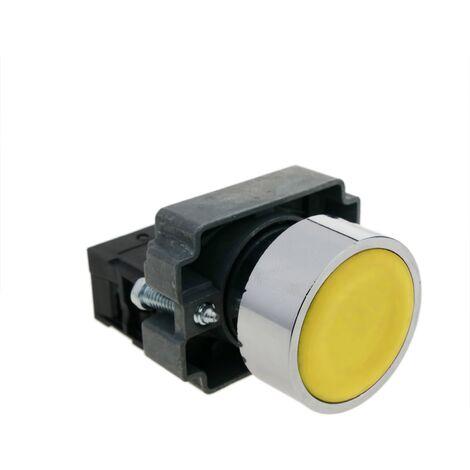 BeMatik - Push button momentary 22mm 1NC 400V 10A normally close yellow