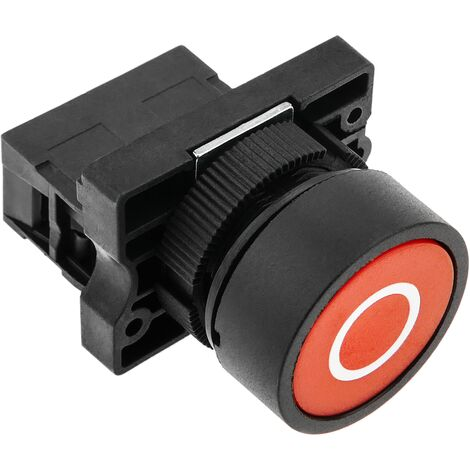 BeMatik - Push button momentary 22mm 1NO 400V 10A normally open red turn off