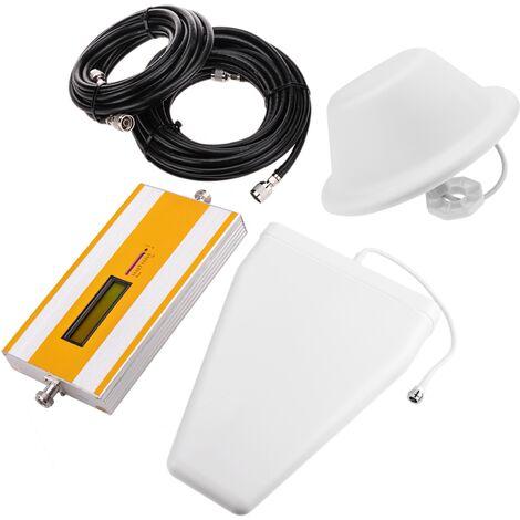 BeMatik - Repetidor amplificador GSM 1800MHz 70dB con antenas y cable 5m