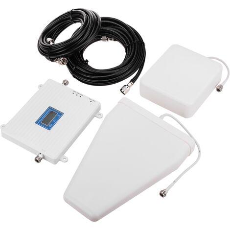 BeMatik - Repetidor amplificador GSM 3G 900MHz 1800MHz 2100MHz 75dB con antenas y cables