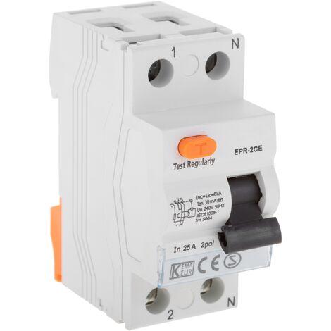 "main image of ""BeMatik - Residual current circuit breaker RCD 2P 25A 10kA"""