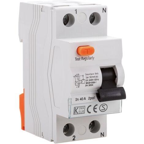 "main image of ""BeMatik - Residual current circuit breaker RCD 2P 40A 10kA"""