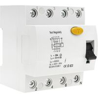 BeMatik - Residual current circuit breaker RCD 4P 25A 6kA