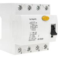 BeMatik - Residual current circuit breaker RCD 4P 40A 6kA