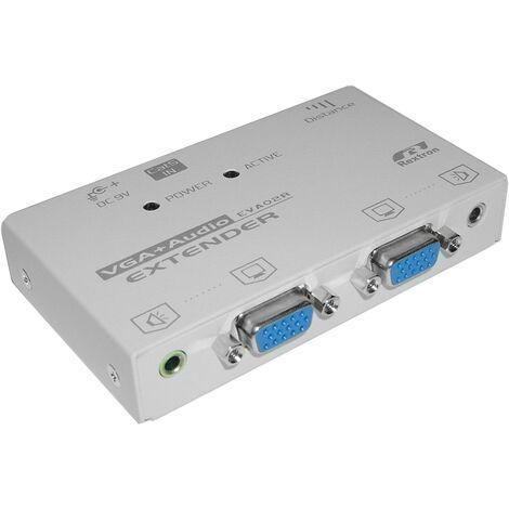BeMatik - Rextron AV Extender 2 VGA-OUT + 1 RJ45-IN (EVA-02R)