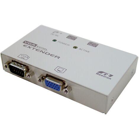BeMatik - Rextron VGA Extender 1 VGA-IN + 1 VGA-OUT + 2 RJ45-OUT (EV-112L)
