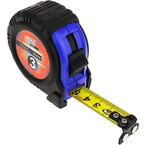 BeMatik - Rolled metal tape measure 3 m x 16 mm