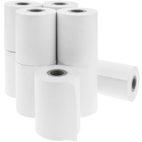 BeMatik - Rollo bobina de papel térmico para impresora TPV y caja registradora 57x40mm 10 unidades