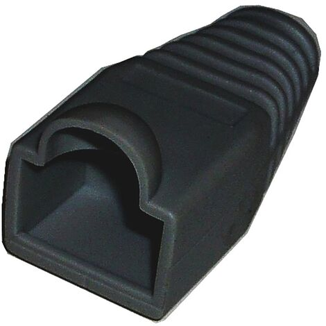 BeMatik - Rubber boot to a black RJ45 connector