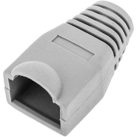 BeMatik - Rubber cover for RJ45 gray/white
