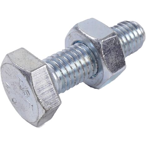 BeMatik - Screw and nut M10 40mm silver