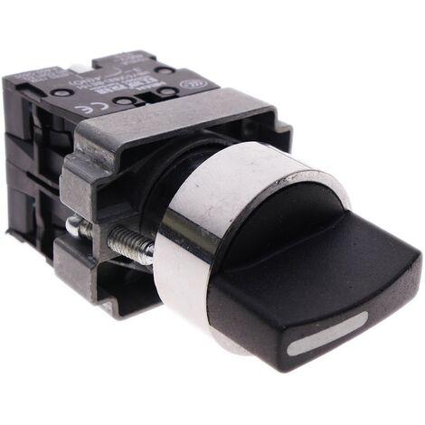 BeMatik - Selector rotatorio de enganche 22mm 400V 10A de 3 posiciones con bloqueo