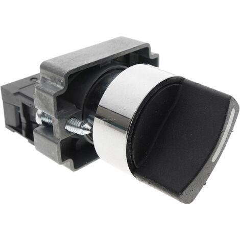 BeMatik - Selettore rotativo momentaneo 2 posizioni 1NO 22mm 400V 10A normalmente aperto