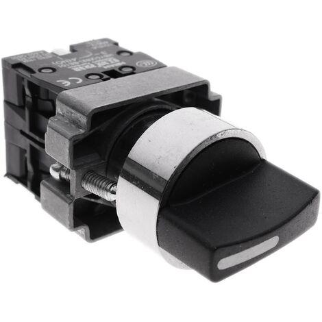BeMatik - Selettore rotativo momentaneo 3 posizioni 1NO 22mm 400V 10A normalmente aperto