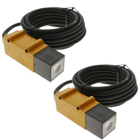 BeMatik - Sensor interruptor célula fotoeléctrica NPN NO+NC 10-30VDC 5m barrera