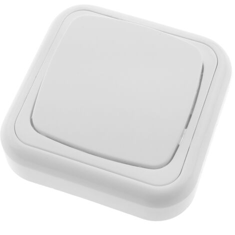BeMatik - Single gang push button with 80x80mm cover frame white