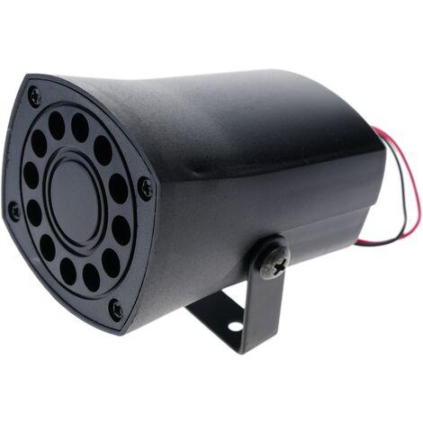 BeMatik - Sirena piezo eléctrica bitono para alarma 12VDC