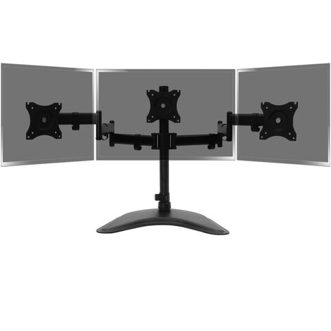 BeMatik - Soporte de 3 pantallas de TV para sobremesa y con peana VESA 75x75 100x100